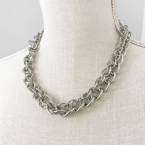 LOFT Silver Chain Rope Necklace